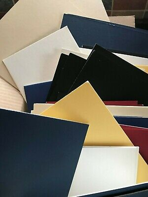 Box Of 58 Mountboard Card Off Cuts  Offcuts Scraps Assorted Colours & Sizes