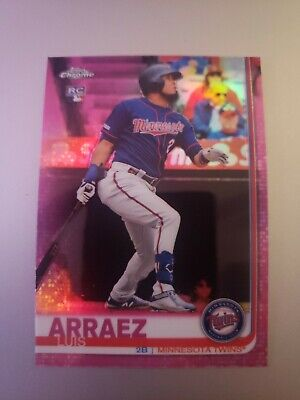 2019 Topps Chrome Update Luis Arraez Rc Pink Refractor Twins Rookie Card ⚾️