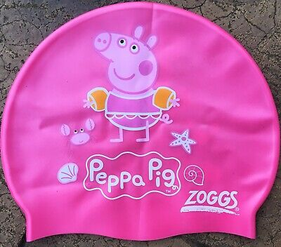 PEPPA PIG Kids Girls Swimming Cap Silicone Zoggs Pool Pink, Size Junior (2-8 Y)