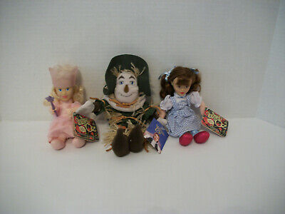 Wizard Of Oz Dorothy, Scarecrow, And Glenda The Good Witch -Nwt
