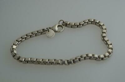 "Authentic Tiffany & Co. Sterling Silver 925 Venetian Box Link Bracelet 7"" {B9}"