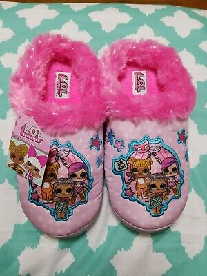 Girls LOL Surprise Slippers NWT Large Size 2-3