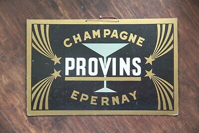 Vintage Advertisment Of Champagne Provins In Epernay French Sign Free Shipping
