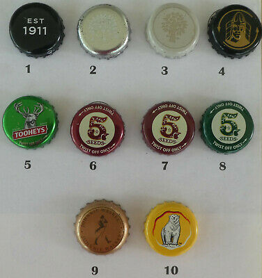10 Cider & Mixed Drink Crown Seal Bottle Caps made or sold in Australia (6)