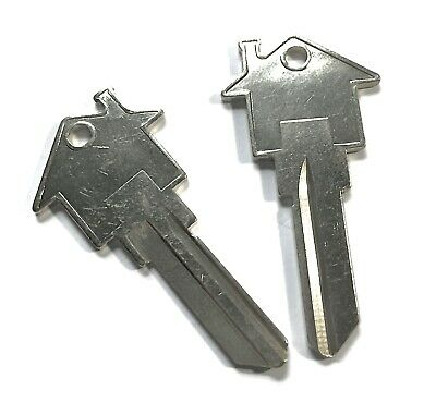 House Shaped Key Blank Schlage Silver 2 PACK,Real Estate Broker, Maintenance SC1