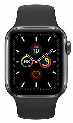 Apple Watch Series 5 40mm Space Gray Aluminium Case with Black Sport Band