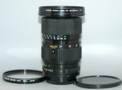 Canon 35-105mm f3.5 FD manual focus macro zoom lens for A1 AE-1 F1 - Nice Ex++!