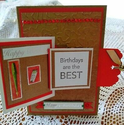 Handmade unusual Male Birthday Cards with different folds