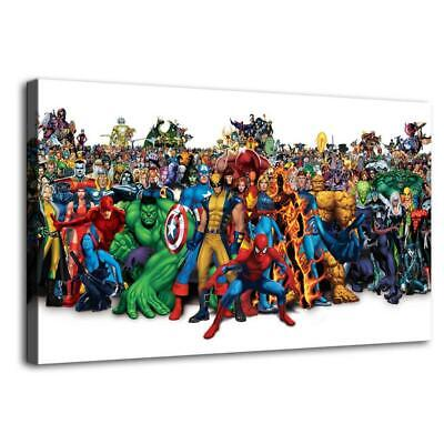 Marvel characters HD Canvas prints Painting Home decor Pictures Wall art Posters