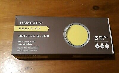 Hamilton Prestige bristle blend paint brush set x 3 decorating professional