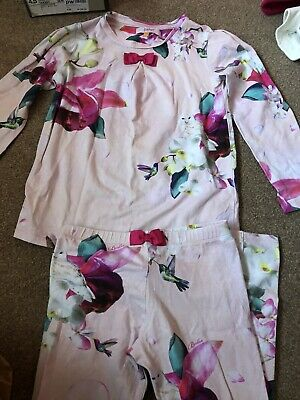 Girls Ted Baker Pink Pyjamas PJs Nightwear 7-8 Years L@@k