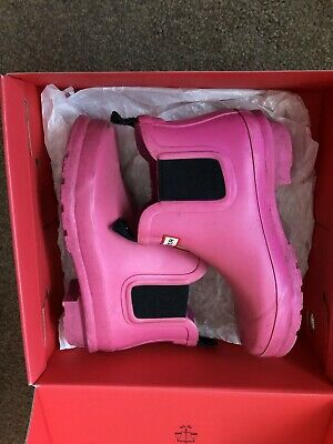 Hunter Chelsea Pink Wellie Boots Uk 13 Eu 32 L@@k Girls