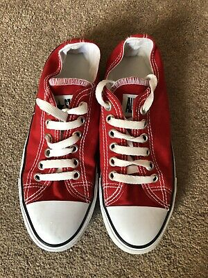 Converse Red Size 5 Worn Once