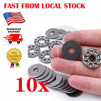 Pack of 10 AXK0619 6x19x4 mm Thrust Needle Roller Bearing with Washers 6*19*4