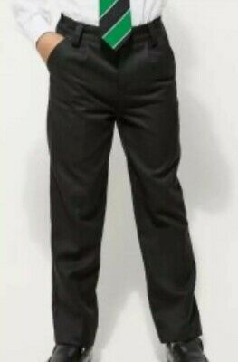Black Pleat Front School Trousers...next Size 14Yrs