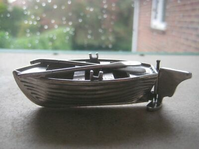 Antique White Metal Model of a Lifeboat  1159PUMPSWAN19