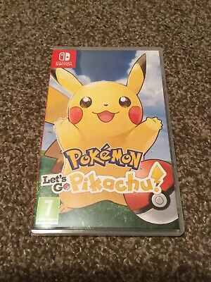 Pokemon Lets Go Pikachu Nintendo Switch Game Mint