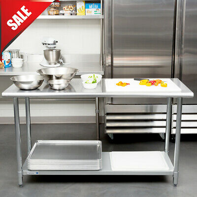 """Commercial Kitchen 24"""" x 60"""" Stainless Steel Work Food Prep Table NSF Counter"""