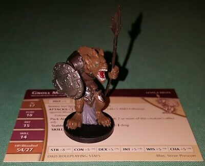 Aberration Cod. D/&D 67 Dungeons /& Dragon Dungeons /& Dragons Miniatures GNOLL