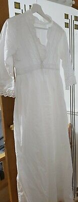 Vintage victorian long white nightgown