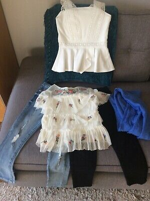 Girls Age 8 River Island and Zara Combi Outfits