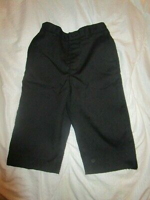 toddler boys smart wedding trousers age 2-3 years black worn once wool & polyest