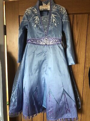 Official Disney Frozen 2 II Elsa Costume Dress Up Outfit Age 5/6 Yrs