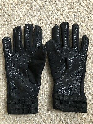 Kids Childrens Rugby Gloves - Optimum Velocity Black Thermal Mitts- Size Mini
