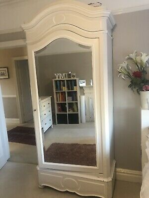 French Louis Painted Shabby Chic Armoire Wardrobe