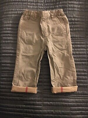 Baby Boys Burberry Beige Chinos Age 18months