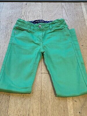 Girl's Mini Boden Green Cotton Slim Fit Trousers/Jeans - Age 10 - Excellent Cond