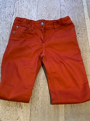 Girl's Mini Boden Orange Slim Fit Cotton Trousers/Jeans - Age 10 -  Great Cond