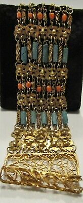 Egyptian Revival Faience Bead Bracelet!!