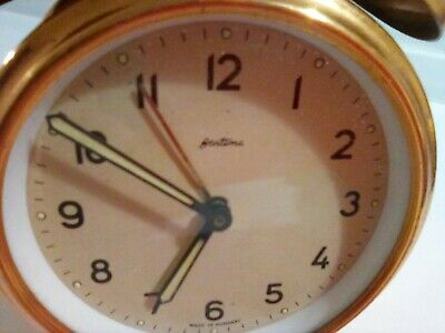 Very Rare vintage antique Bentima Alarm Clock mechanically charged full working