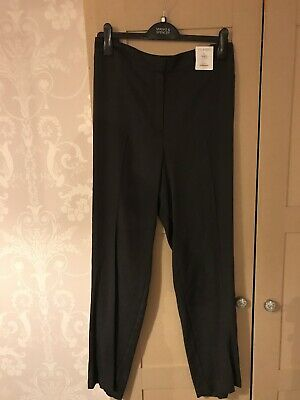 Brand New with Tags M&S Black Mix Trousers Size 20R