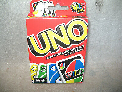2015 Mattel UNO Wild Original Playing Card Game with Customizable wild cards
