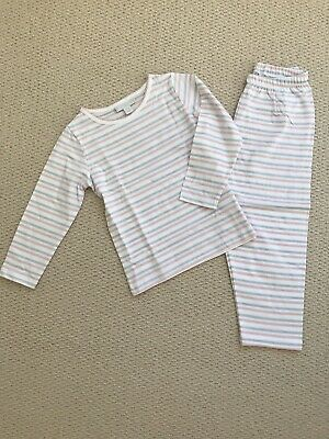BNWT New The Little White Company Striped Girl Pyjama Set (2-3 Years)