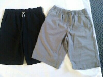 NWOT! Boys Size 14/16 Gray And Black Shorts 2 Pairs Cat & Jack Very Nice