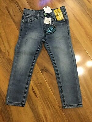 Boys Age 5 years NEXT Super Skinny Fit Blue Jersey Denim Jeans