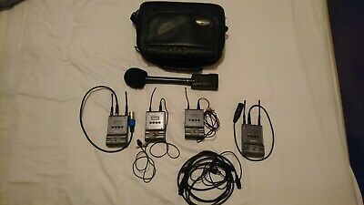 Sony UTX P1 Set Inc F-112 Handheld Mic, transmitters and receivers.