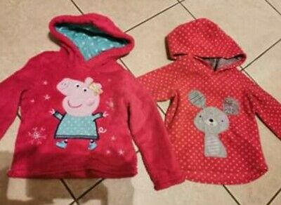 X2 2-3 Years Fleece Jumpers Hoodys Girls Peppa Pig