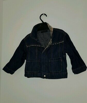 Boys Girls Kids BURBERRY denim jacket Size 18 M 100%cotton