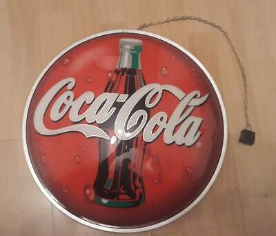 Coca cola 1990 year signboard 16,5 inch - 42 cm electric