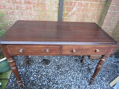 Victorian Two Drawer Console Writing Side Table (Southampton)