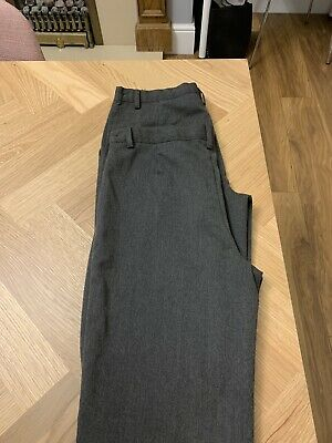 Boys Next Grey Flat Front School Trousers Age 12 Plus Worn Once X 2 Excellent