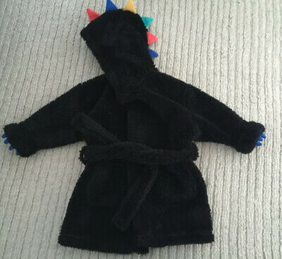 Next Baby Boys Hooded Monster/dinosaur Dressing Gown. Age 12-18 Months