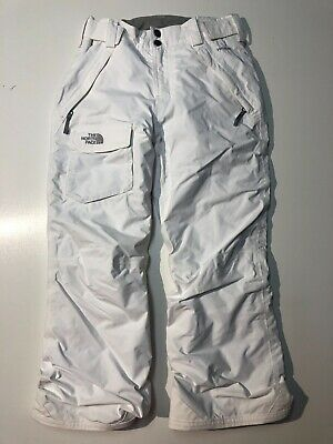 North Face Hyvent White Snowboarding Pants Girl's Size Medium 10-12