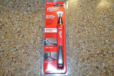 Brand New Factory Sealed Milwaukee 2202-20 Voltage Detector with LED Light