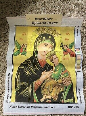Notre Dame Madonna Paris Royal Tapestry Embroidery Sewing Canvas Wall Art Craft