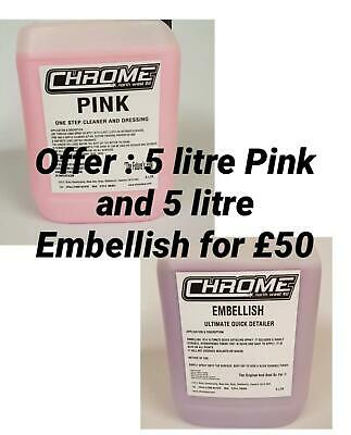"""Chrome Cleaning Products 5 LTR """"Pink and Embellish"""""""